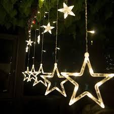 Valentine S Day Living Room Decor by Aliexpress Com Buy 220v Christmas Lights Star Led String Light