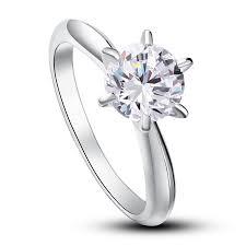 inele logodna aur alb inel solitaire simulated diamond argint 925 http www borealy