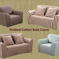 Cotton Sofa Slipcovers by Striped Sofa Slipcovers Tehranmix Decoration