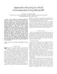 approach to securing in vehicle networks using ethernet ip pdf