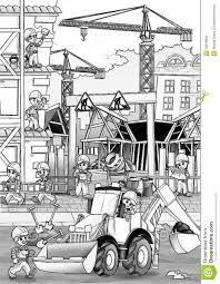 construction site coloring page stock illustration image 39918823