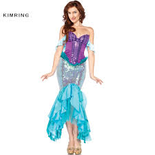 Halloween Mermaid Costume Online Get Cheap Ariel Mermaid Costume Aliexpress Com