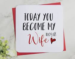 Groom To Bride Card Groom And Bride Etsy
