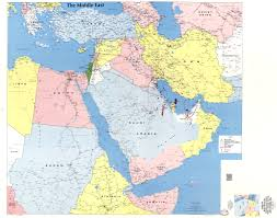 Middle East Map Large Detailed Map Of The Middle East Kuwait Bahrain Qatar Fair