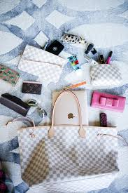 louis vuitton black friday sale whats in my bag blog post louis vuitton neverful damier azur gm