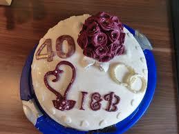 torte hochzeitstag 40 hochzeitstag rubinhochzeit fondant torten