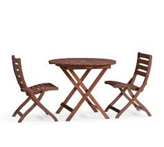 pottery barn bistro table chatham round folding bistro table side chair set pottery barn