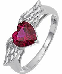 jewelry rings online images Buy sterling silver and created ruby wings heart ring at argos co jpg