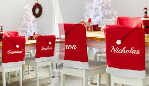 christmas chair covers personalised christmas seat decoration treats on trend
