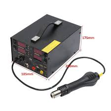 saike 220v 909d rework soldering station air gun dc power