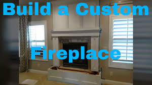 how to build a fireplace mantle finish carpentry diy youtube