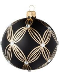 david jones david jones black glass ornament with gold glitter