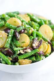 green bean potato salad recipe with feta and olives