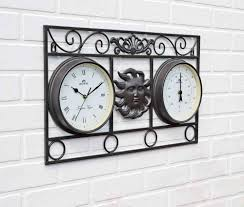 Garden Wall Clocks by Uk G Large Indoor And Outdoor Garden Clock And Thermometer Wall