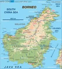 South Padre Island Map Island Borneo
