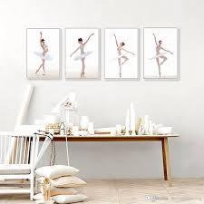 2017 modern minimalist black white ballet swan canvas art print