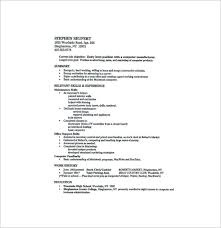 Current Job Resume by High Resume Template U2013 9 Free Word Excel Pdf Format