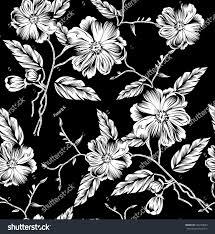 black white floral pattern stock vector 546729643 shutterstock