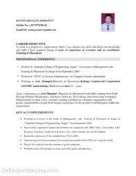 Career Objective Resume Sample by Mechanical Engineer Objective Resume Free Resume Example And