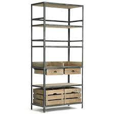 furniture arley wood and metal rack