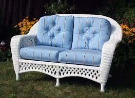 Wicker Settee Replacement Cushions White Outdoor Wicker Loveseat