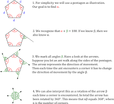 How To Calculate Interior Angles Of An Irregular Polygon Exterior And Interior Angles Of A Pentagon Streamrr Com