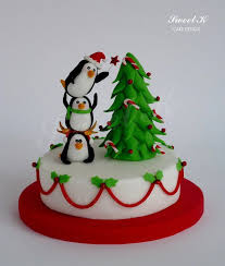 penguins of christmas by karla sweet k cakesdecor com cake