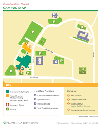 Michigan Campus Map by Campus Maps Promedica Bixby Hospital