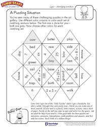 a puzzling situation u2013 logical reasoning worksheets for kids