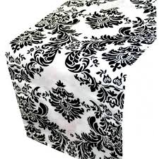 black and white table runners cheap black and white damask table runner karley s linens