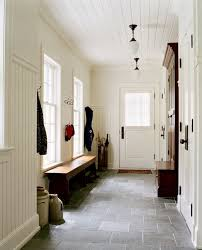 beadboard paneled mudroom walls ceiling slate floors house of