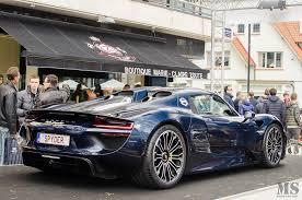 porsche dark blue metallic spyder belgium 209 918 porsche 918 spyder registry