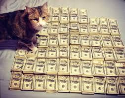 Rich Cat Meme - cash cats photo and art show flaunts hip trifecta of money guns