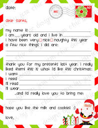 santa gift list kids christmas wishlist printable dear santa letter instant
