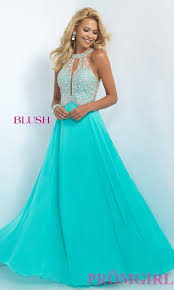 beaded illusion full length prom dress promgirl