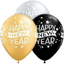happy new year balloon 36 black happy new year 11 gold silver balloon