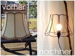 Wohnzimmer Lampenschirm Alter Lampenschirm Wird Neue Stehlampe Upcycling Diy Alte