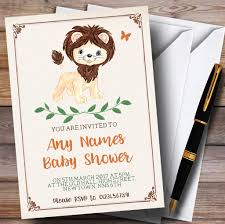 cute little lion invitations baby shower invitations the card zoo