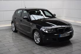 black bmw 1 series used bmw 1 series m sport black cars for sale motors co uk