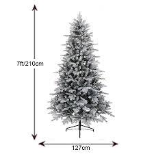 kaemingk frosted vermont 7ft christmas tree