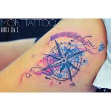 the 25 best watercolor compass tattoo ideas on pinterest