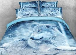 Wolf Bedding Set Onlwe 3d Wolf In The Printed Cotton 4 Bedding Sets