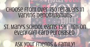 gift card fundraiser christmas gift card fundraiser st s elementary school