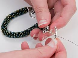 crochet necklace bead images How to make beaded crochet rope artbeads jpg