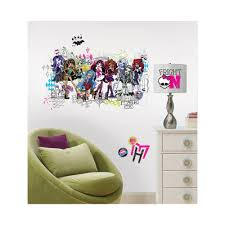 monster high group peel and stick giant wall decals rmk2256gm monster high group peel and stick giant wall decals