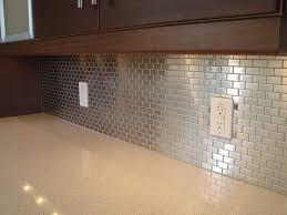 Stainless Steel Tile Backsplash Amazing  Cabinet Hardware Room - Stainless steel tile backsplash