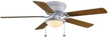 hton bay hugger 52 in white ceiling fan with light wall s