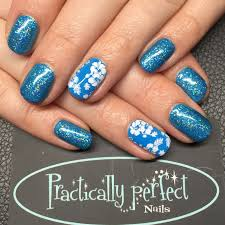 cnd shellac in digi teal with glitter and stamping all work is my