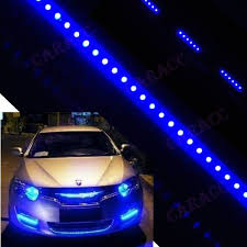 blue light on car waterproof flexible scan knight rider strip 48 led car light 20