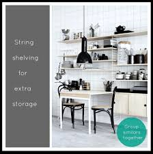 String Shelving by Littlebigbell String Shelving Kitchen Storage Little Big Bell